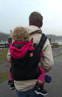 babywearing with a baby carrier